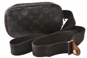 Authentic Louis Vuitton Monogram Pochette Gange Cross Body Bag M51870 LV B9174