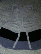 Bke Boutique Cut/fly away Vest Women's Juniors Top Shrug Sleeveless Small S