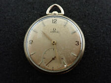 VINTAGE 12 SIZE OMEGA POCKET WATCH CAL 140 FROM 1950