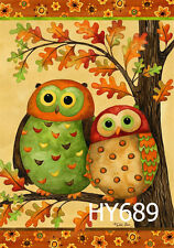 """28X40"""" Owls Large Garden Flags Decorative House Banner Double-sided Flag HY689"""