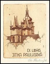 Stastny Ctibor 1937 Exlibris C3 Bookplate Architecture 1459