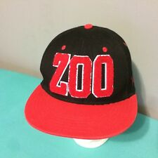 Zoo York Baseball Hat Cap Snapback Red Black Letterman Style VGUC One Size