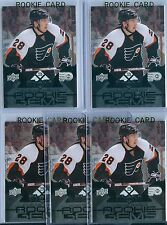 (5) CLAUDE GIROUX 2008-09 BLACK DIAMOND RC ROOKIE SP LOT