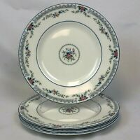 """NEW LOT OF 4 PIECES WEDGWOOD ROSEDALE DINNERWARE 9"""" LUNCHEON LUNCH PLATES RARE"""