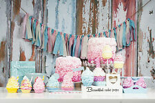 STUNNING SHABBY CHIC STLYE CANVAS CUPCAKES BAKING #792 PICTURE WALL ART A1