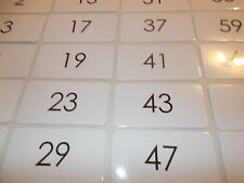 22 Prime Numbers Laminated Flashcards.   2nd-5th Grade Math Numbers Flashcards.