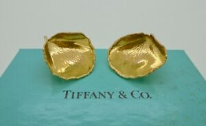 Authentic Vintage Tiffany & Co. Cummings Rose Petals Earrings in 18k Yellow Gold