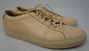 Common Projects Mens Original Achilles Low Natural Sneaker Shoe Size 41 EU/ 8 US