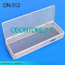 "Sterilization Cassette Tray 9"" x3"" x1"" Perforated Mesh Box DN-312"