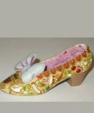 "Disney Snow White Decorative Collector Shoe, 4 1/4"" gold pink sparkly"