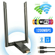 1200Mbps WiFi Adapter 2.4/5.8GHz Dual Band Dongle USB 3.0 WLAN Empfänger Stick