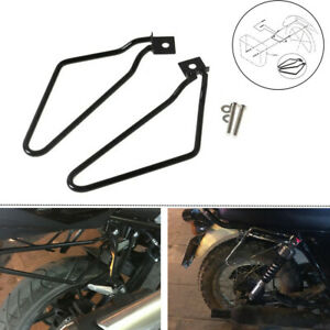 Pair Motorcycle Bracket Rack Saddle Pannier Bag Spacer Support Bar Protector Kit