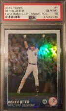 2015 Derek Jeter Topps Two Hands Up Rainbow Foil PSA Graded GEM MINT 10