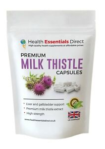 Milk Thistle Capsules High Strength 1 a Day, Strong 35:1 Extract - 80% Silymarin