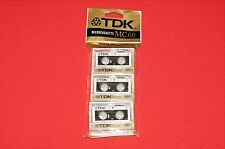 3 PACK TDK MC-60 60 MINUTE AUDIO MICROCASSETTE TAPES BRAND NEW SEALED