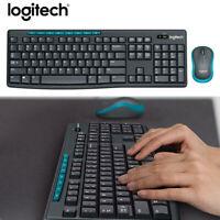Logitech MK275 USB Wireless Keyboard 1000 DPI Optical Ergonomic Mouse Combo Set