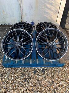 "19"" Mercedes C63S AMG Style Alloy Wheels & Tyres Black/Pol Mercedes C-Class W205"