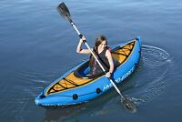 Bestway Cove Champion Inflatable Kayak 1 Person Canoe Water Boat Paddle Pump
