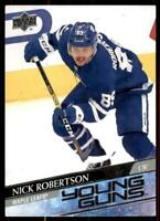 2020-21 UD Series 1 Base Young Guns #237 Nick Robertson RC - Toronto Maple Leafs