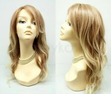 """Heat Resistant Wavy Long Layered Wig Mixed Blonde Beach Waves 18"""""""