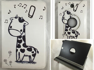 "Cover+Protector 360º For Samsung Galaxy Tab A 8.0 "" T350 Drawing Giraffe"