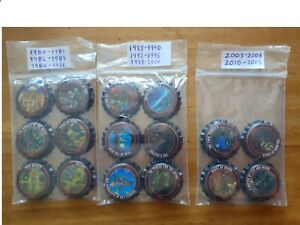 IRON MAIDEN TROOPER DAY OF THE DEAD  16 UNUSED  FULL COMPLETED SET  BOTTLE CAPS