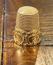 Antique Vintage Gold Thimble Diamonds Simons Bros. 14K