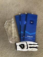 3 Brand New Mizuno Comp Mens Lh (Rh Golfer) Small Cadet Gloves.