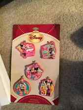 NEW DISNEY GIRLS ORNAMENTS HOLIDAY DAISY DUCK MINNIE MOUSE 5 PIECE
