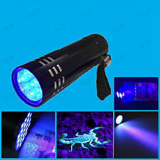 UV Black Light LED Torch Ultra Violet Counterfeit Money Security Marker Detector