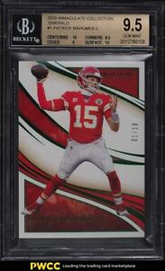 2020 Immaculate Collection Emerald Patrick Mahomes II 1/19 #1 BGS 9.5 GEM MINT