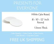"White Round Cake Boards 8 10 12"" Inch Wedding - Birthday - Anniversary"