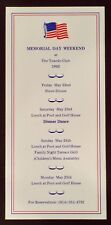 Vtg Rare The Tuxedo Club Memorial Day Weekend Schedule Tuxedo Park New York 1992