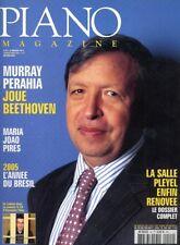 Piano magazine n° 44 avec CD - Janvier-Février 2005 - Murray Perahia