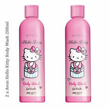 2 x Avon Hello Kitty Body Wash 200ml //  Shower Gel Gentle Sweet Scented