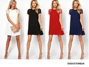 Cool Dress/Blouse Women Chiffon Summer Dress Lace