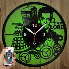 LED Vinyl Clock DoctorWho LED Wall Art Decor Clock Original Gift 3873