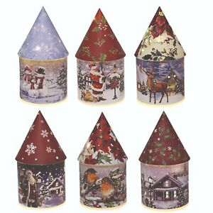 Light Up Christmas Festive Home Decoration Lamp  Cone House Ornaments Winter