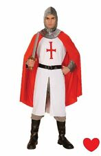 mens knight fancy dress england st george medieval extra large costume