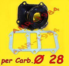 COLLETTORE NOUVO per Carburatore PHBH28 Aprilia MX 125 SX 125 RX 125 PEGASO 125