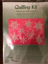 Snowflakes Paper Filigree Quilling Kit Lake City Paper Sealed Lake City Craft