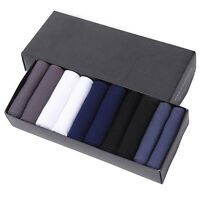 10 Pairs Fashion Men's Lot Casual Dress Business Fiber Stockings Bamboo Socks