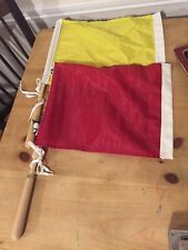 US Soccer Referee Flags-Red and Yellow Linesmen Made By Kwikgoal