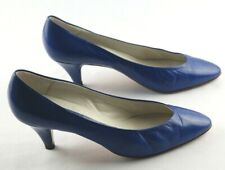 8ded6d3fe67b3 Peter Kaiser Pumps Womens Sz 7.5 M Blue Leather Mid Heel Shoes