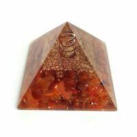 Orgonite Pyramide Granat Kristall Energie Generator Emf Schutz Reiki Edelstein