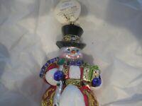 """Radko Sir Scarlet Snow 7 1/2"""" Snowman Ornament 1018555 NWT """"limited edition 627"""""""