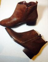 Plus Size Ladies Evans Brown Snake Print Ankle Boots UK 10EEE ALEC RRP £47
