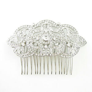 DESIRE ACCESSORIES Gatsby Style Statement Bridal Prom Haircomb UK SELLER