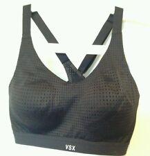BNWT Victoria's Secret VSX Sport Black Cross strap Exercise Bra Top 34C support