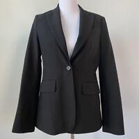BCBG MAXAZRIA Blazer Size Small Single Button Jacket Career Coat Fitted Short
